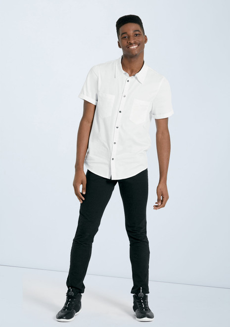Unisex Collared Shirt [White]T