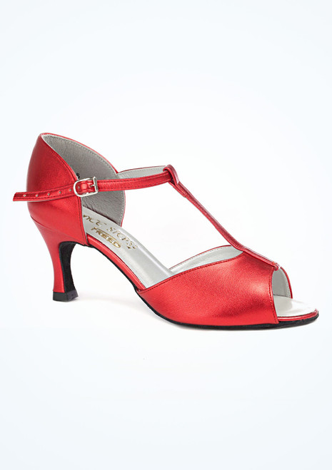 Dancesteps Jade Dance Shoe 2.5 Red side. [Red]""