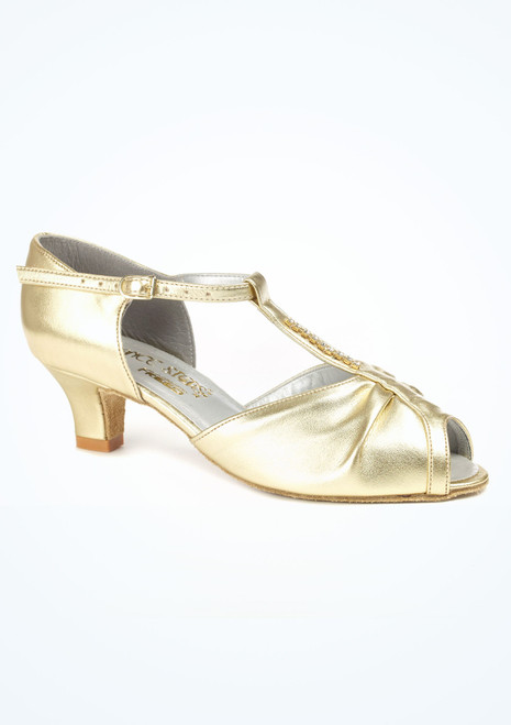 Dancesteps Topaz Ballroom & Latin Shoe 1.65 Gold. [Gold]""