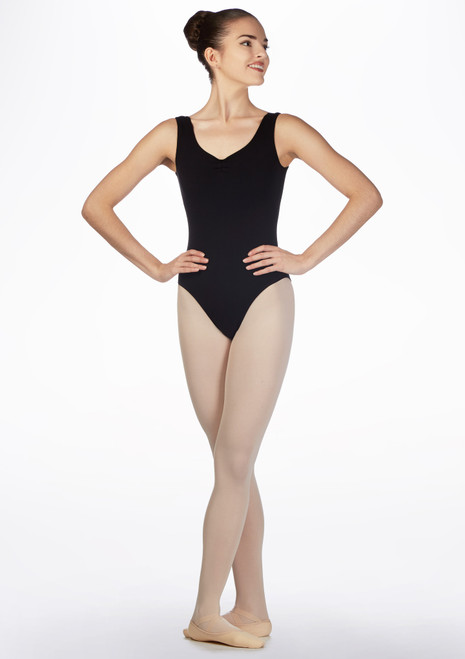 Freed Bethany RAD Leotard Black front. [Black]