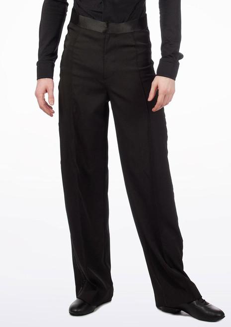Move Gabriel Men's Ballroom Trousers Black. [Black]