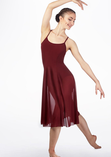 Move Helena Mesh Dress Red back. [Red]