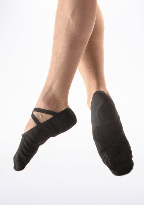 So Danca Canvas Men's Split Sole Ballet Shoe Black. [Black]