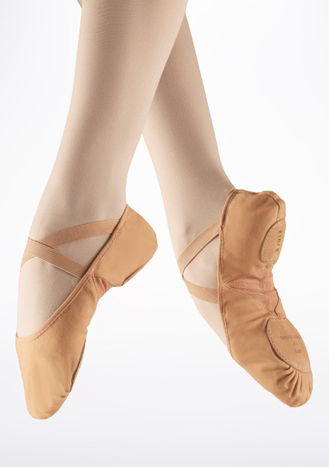 Bloch Pro Arch Split Sole Ballet Shoe Flesh Tan. [Tan]