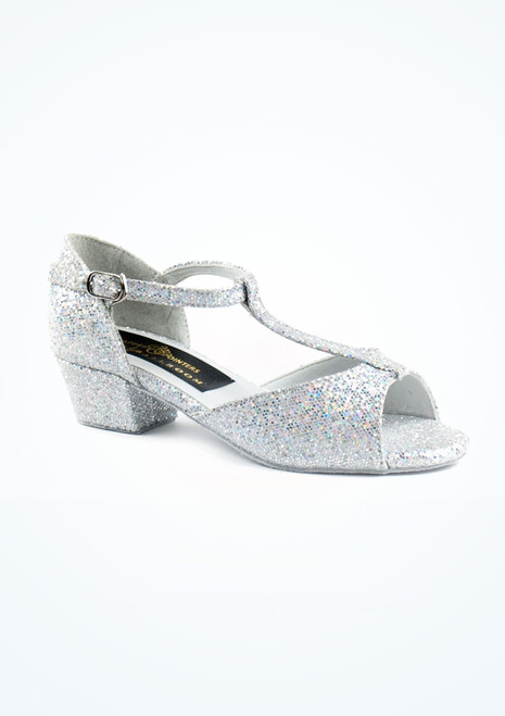 Tappers & Pointers Chelsea Ballroom Shoe 1.2 Silver. [Silver]""