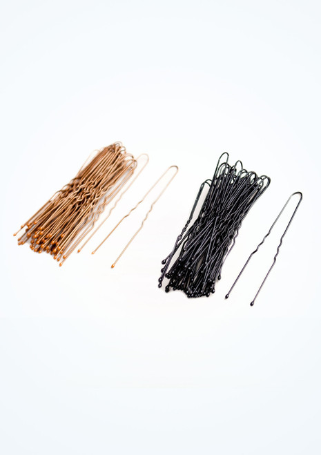 Tappers & Pointers Waved Hair Pins Black front. [Black]