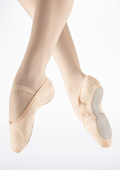 So Danca Full Sole Canvas Ballet Shoe Pink front. [Pink]