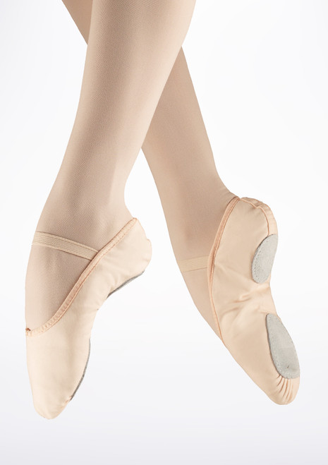 So Danca Split Sole Canvas Ballet Shoe Pink. [Pink]