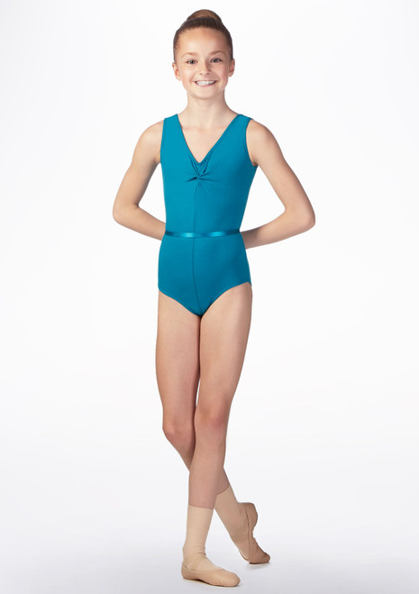 Freed Faith RAD Kids Leotard Blue front. [Blue]