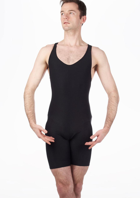 Move Men's Racer Back Biketard Black. [Black]