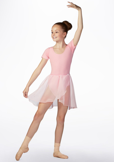 Freed RAD Georgette Wrap Dance Skirt Pink front. [Pink]