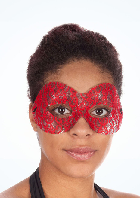 Domino Lace Eyemask Red main image. [Red]