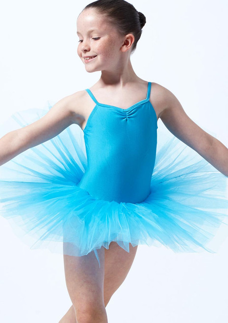 Alegra Basic Kids Camisole Tutu Dress Blue. [Blue]