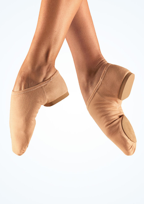 So Danca Canvas Split Sole Jazz Shoe Nude Tan. [Tan]
