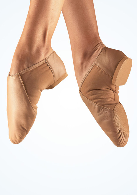 So Danca Split Sole Stretch Jazz Shoe Tan. [Tan]