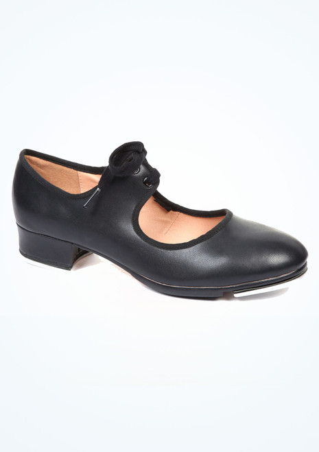 Move Tie Front Tap Shoe Black. [Black]