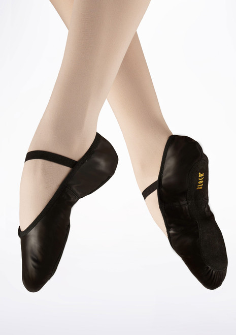 Bloch Arise S0209L Full Sole Leather Ballet Shoe Black. [Black]