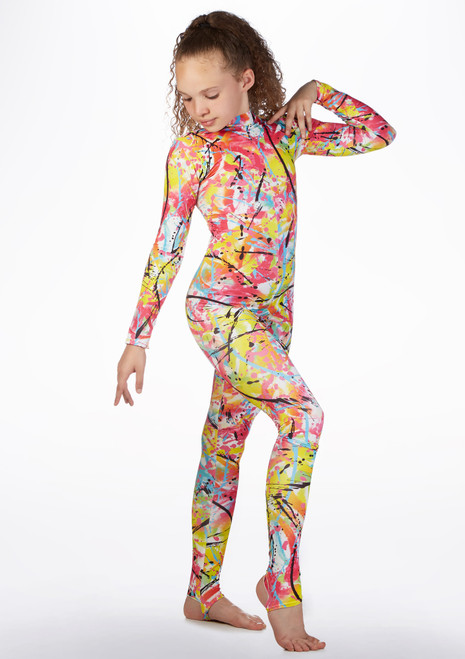 Alegra Girls Patterned Aspen Catsuit front. [Patterned]
