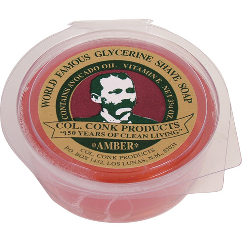 Formulated to whip up into a rich thick lather that leaves your skin feeling clean and soft, the Amber Super Bar packs all glide that all of our glycerine shaving soaps can deliver. Made in the USA. #123