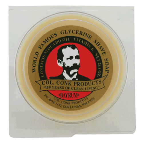 The Bay Rum scent accompanies a rich, thick lather that promotes that smooth, sure glide while you're shaving