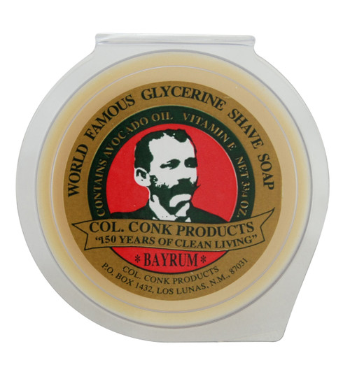 Brings together that traditional mild tropical scent of bay tree leaves and Jamaican rum in a hefty puck that whips up into a consistently rich, thick lather with the incomparable glide that comes only with glycerine.