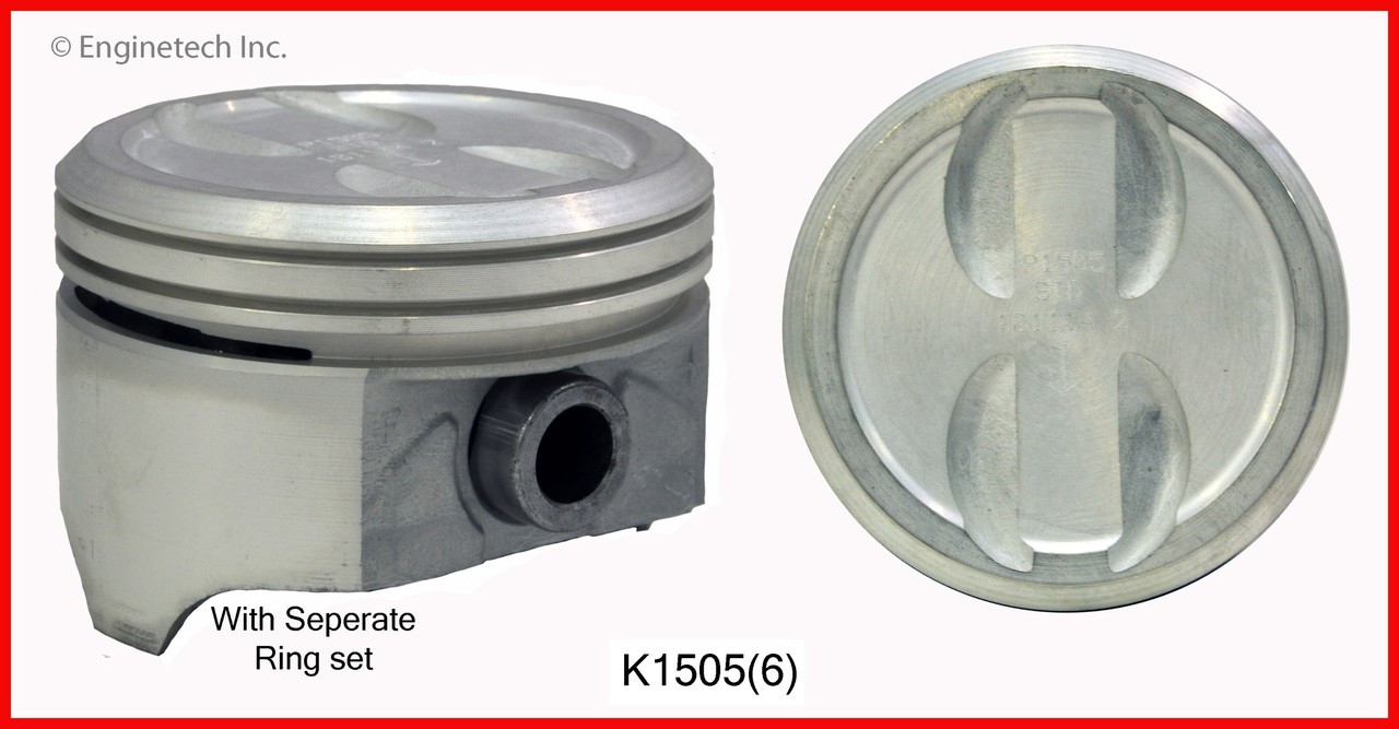 1989 GMC S15 4 3L Engine Piston and Ring Kit K1505(6) -1120