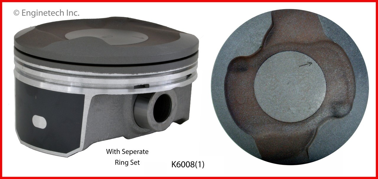 Piston and Ring Kit - 2012 Ram 1500 4.7L (K6008(1).B13)
