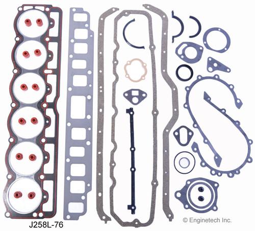 Engine Gasket Set - Kit Part - J258L-76