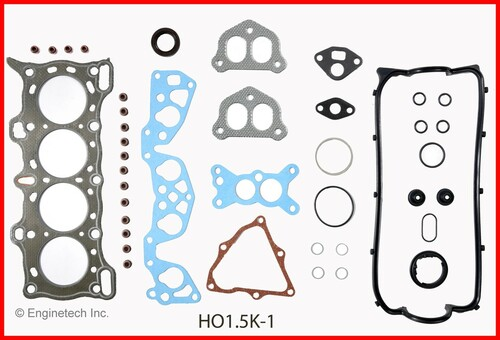 1989 Honda Civic 1.5L Engine Gasket Set HO1.5K-1 -7