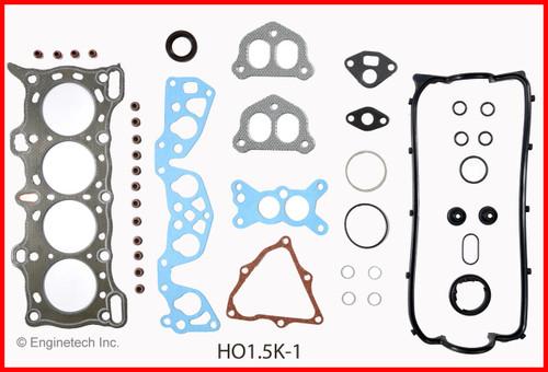 1990 Honda Civic 1.5L Engine Gasket Set HO1.5K-1 -12