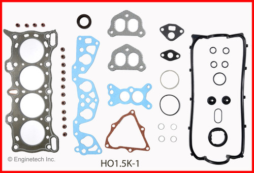 1991 Honda Civic 1.5L Engine Gasket Set HO1.5K-1 -18