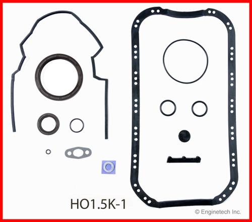 1990 Honda Civic 1.6L Engine Gasket Set HO1.5K-1 -13