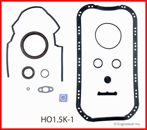 1991 Honda Civic 1.6L Engine Gasket Set HO1.5K-1 -19