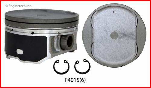 2014 Nissan NV3500 4.0L Engine Piston Set P4015(6) -80