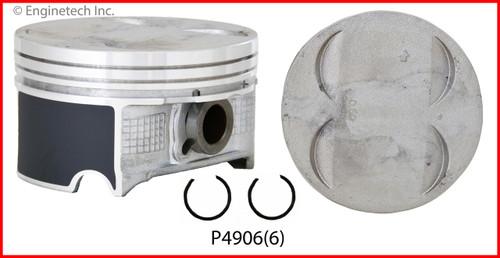 2009 Honda Pilot 3.5L Engine Piston Set P4906(6) -14