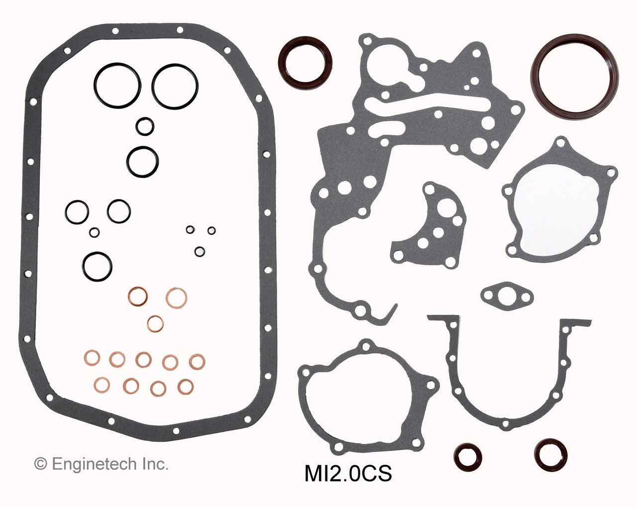 1992 Mitsubishi Eclipse 2.0L Engine Master Rebuild Kit MKMI2.0P -4