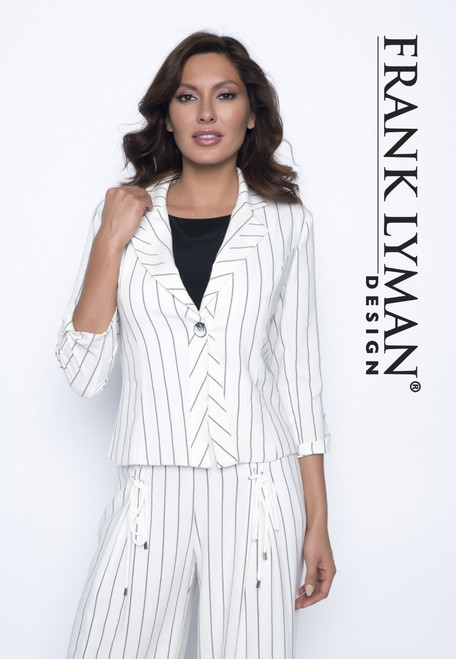 Frank Lyman cream/black stripe jacket (186470)