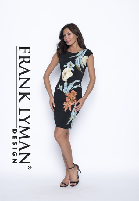 Frank Lyman flower front jersey dress (186883)