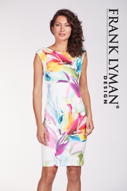 Frank Lyman multi print dress (186171)