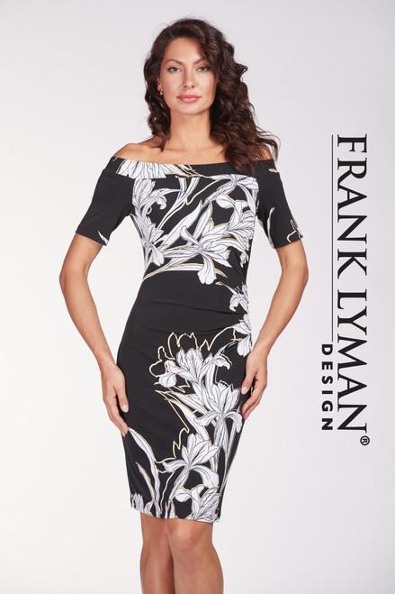 Frank Lyman off the shoulder flower dress (186260)