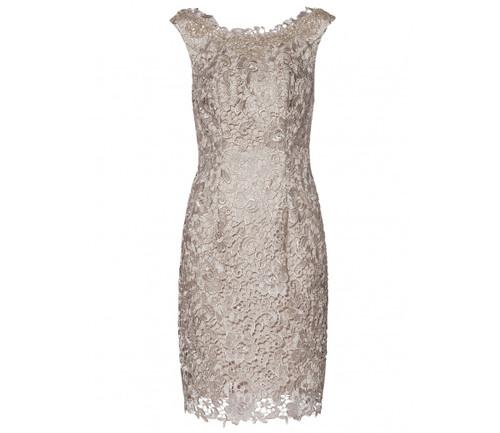 Gina Bacconi Beaded dress & Scarf (SQQ9161)
