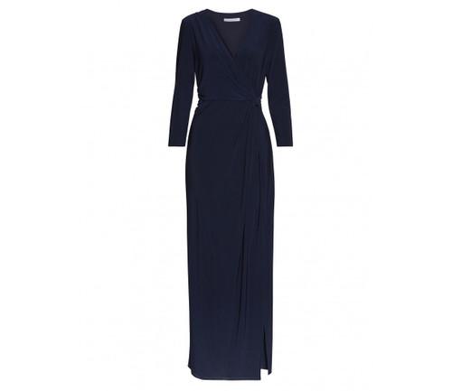 Gina Bacconi navy wrap front dress (SNN7169)