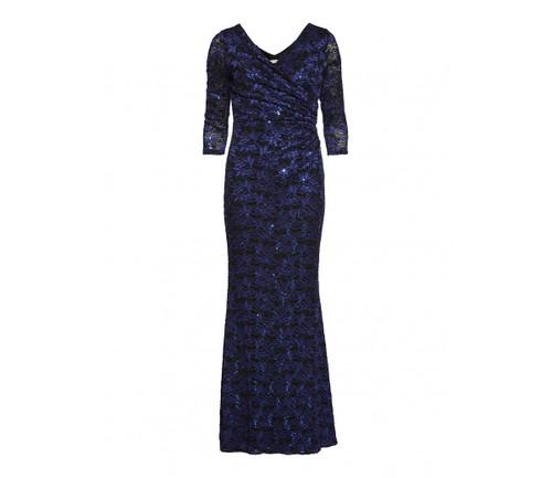 Gina Bacconi navy/cobalt evening dress (SMM6139)