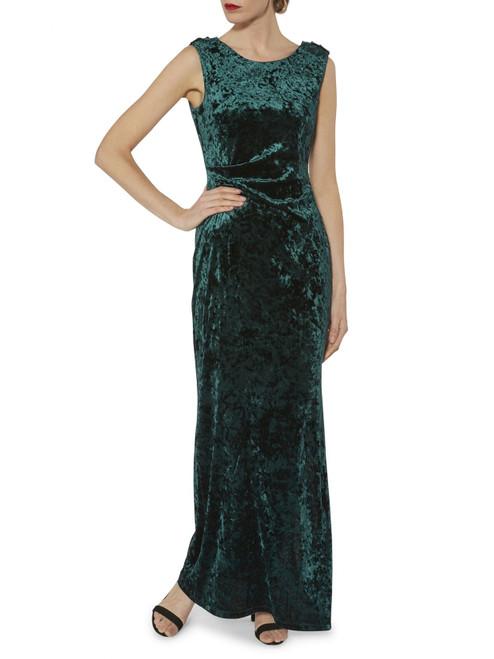 gina bacconi velvet long dress (srr3076)