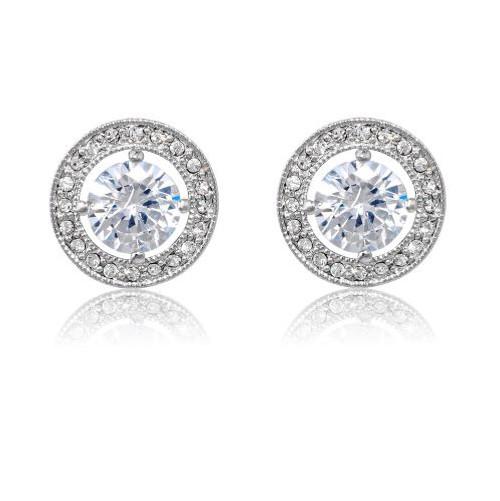 Espree rhodium and crystal earrings (70235)