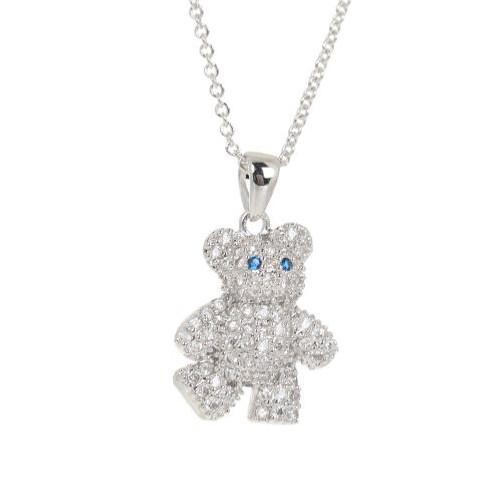 Espree CZ teddy bear pendant (2100)