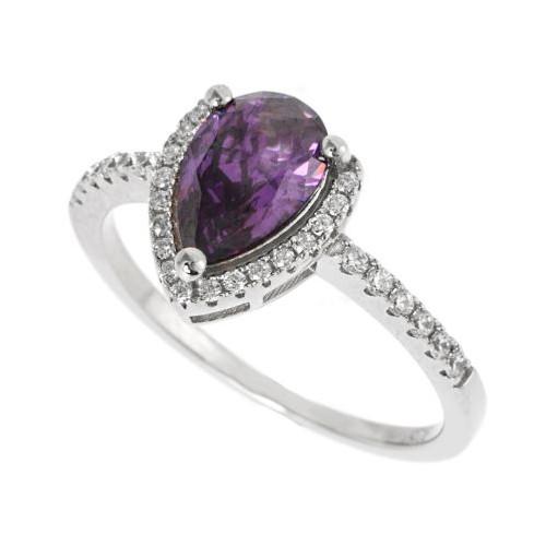 Espree purple pear shaped ring (5561M)