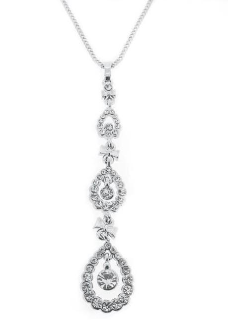 Espree silver long pendant (7011)