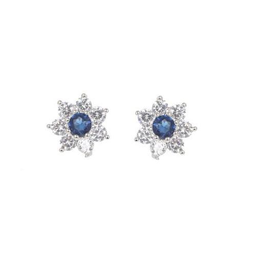 Espree flower CZ earrings (2054)