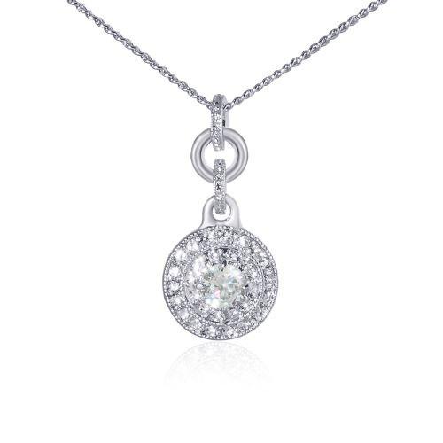 Espree crystal and CZ pendant (7039)